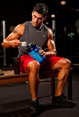 Прием спортивного питания после тренировки