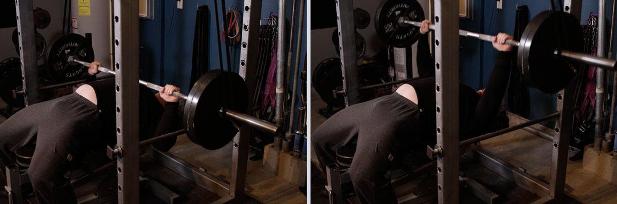 Тренировка рук и грудных мышц