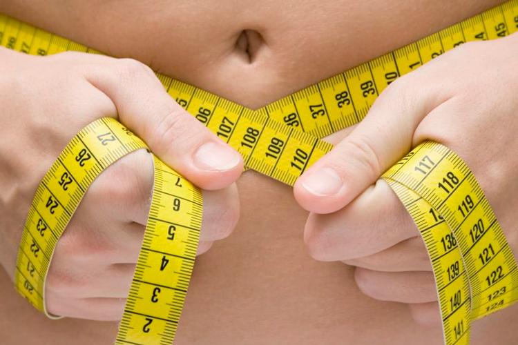 Жир на животе и метр