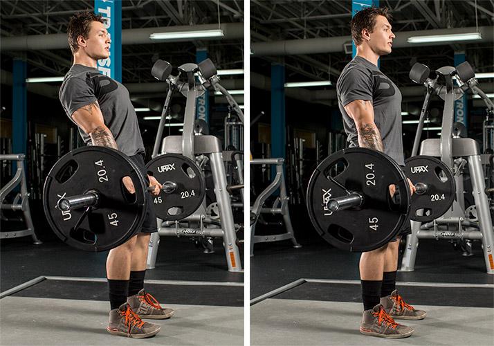 Отклонение спины в верхней точке становой тяге