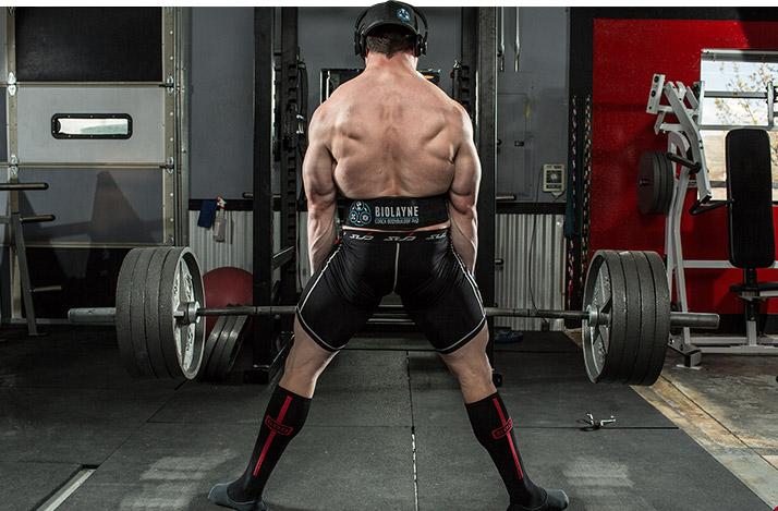 Становая тяга штанги вид сзади