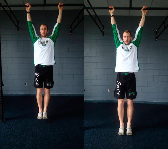 Фото слева: Активные плечи (хорошо). Фото справа: Расслабленные плечи (не хорошо).