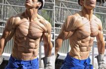 Низкий процент подкожного жира у мужчины на сушке - фото