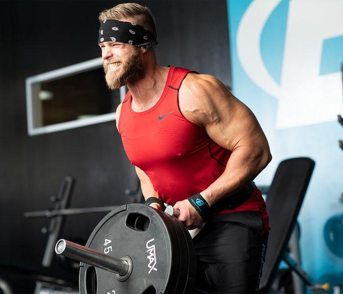 Тяга Т-грифа для тренировки спины на массу